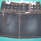 No Boundries NWOT Dark Denim Punk Grunge Mini Skirt 5 Small S Urban Retro location9