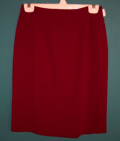 Ann Taylor Red Wool Career Skirt ~ Size 6 ~ 109-523
