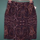 Jones New York Petite Silk Blue Paisley Print Skirt ~ Size 6 P ~ 120-92 box9