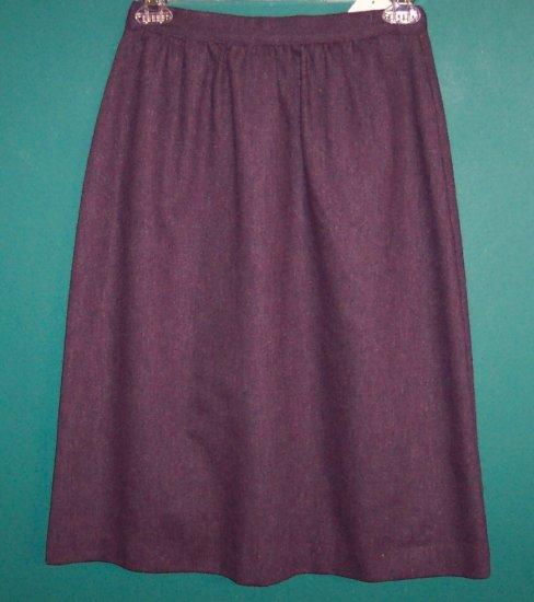 Russ Petites Purple Wool Blend Pencil Skirt ~ Size 6P ~ 101-973 box9