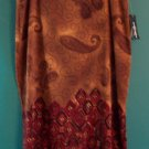 NWT Requirements Brown Paisley Full Skirt Size 16 ~ 101-442h location87
