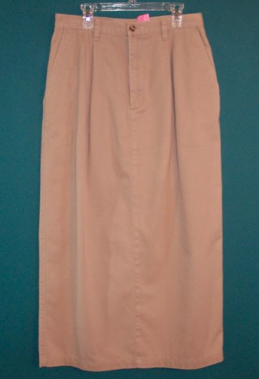 Eddie Bauer Long Khaki Denim Skirt ~ 8 ~ 101-587h location86