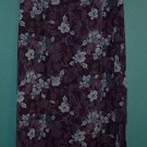 Laura Scott Long Hippie Career Navy Floral Skirt ~ 6P 6 Petite ~ 109-388h location87