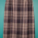 Vintage Savannah Wool Blend Long Black Plaid Career Retro Skirt ~ 16 16P ~ 101-1308h location85