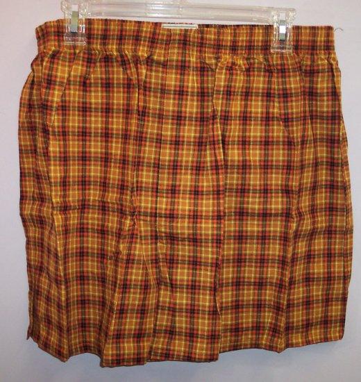 NWOT Wood Island Clothing Company Men's Boxers Underwear Size XL Orange Black Plaid Print location98
