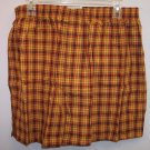 NWOT Wood Island Clothing Company Men's Boxers Underwear Size XL Orange Black Plaid Print location98