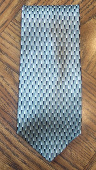 GEOFFREY BEENE Men's Mens Necktie Neck Tie ~ Green Gray Black Cream Print ~ 101-9htie location98