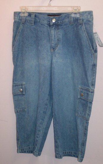 LEE Cropped Denim Jeans CAPRIS ~ 8 ~ Factory Fade ~ 101-02h