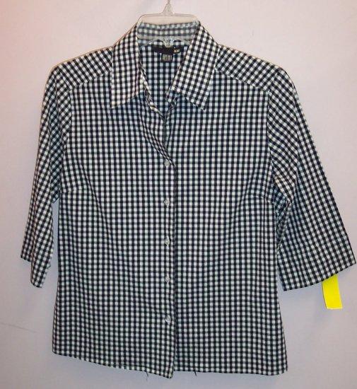 H & M Three Quarter Sleeve Blouse Shirt Top Size 10 M 101-5068h location86