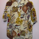 Hippie Rockabilly Retro Funky Hippie NAUTICAL Blouse Shirt Top Size 12 Large 141-556h location87