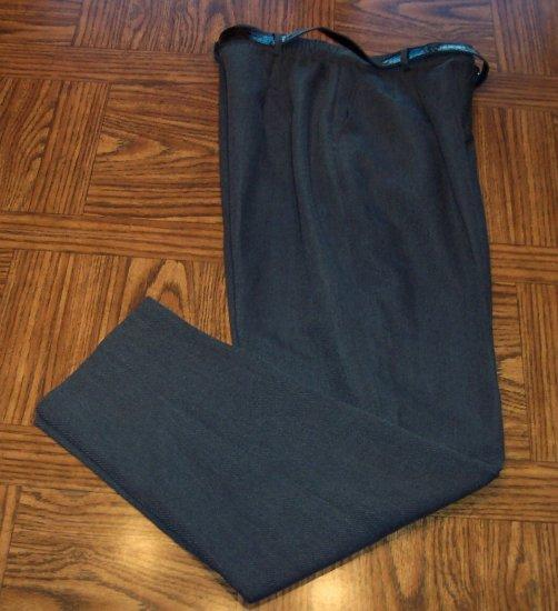 Monterey Canyon Dress Charcoal Gray Slacks Pants Size 12 101-h37 Once Is Never Enough