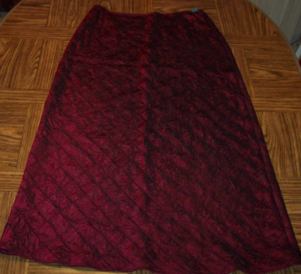 Vintage Finity Naturals Burgundy Full Skirt Size 16 120-79h location87