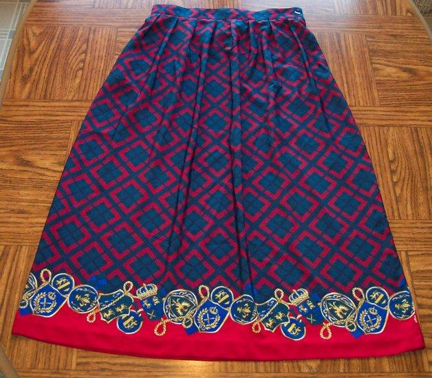 Leslie Fay haberdashery Petite Full Skirt  Size 14 petite14p 120-12h location86