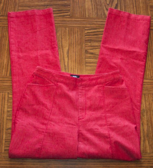 Mossimo Red Casual Light Weight Denim Pants Slacks Size 6 101-1815h location86