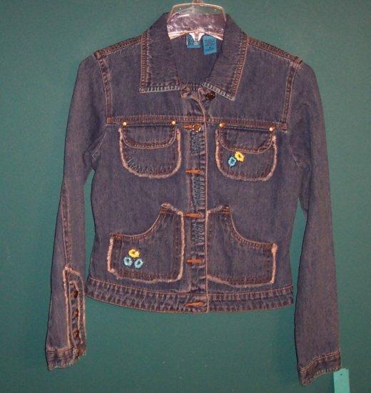 BCI CLOTHING Embellished Denim Jacket ~ Size M Medium ~ 101-4hjacket location94