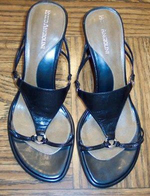 ENZO ANGIOLINI Black Womens Women's Sandals Shoes  Size 7 M  SH2 location85
