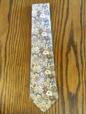 Perry Ellis Portfolio Earthtones Paisley Print Mens Necktie Neck Tie 101-47htie Ties location87