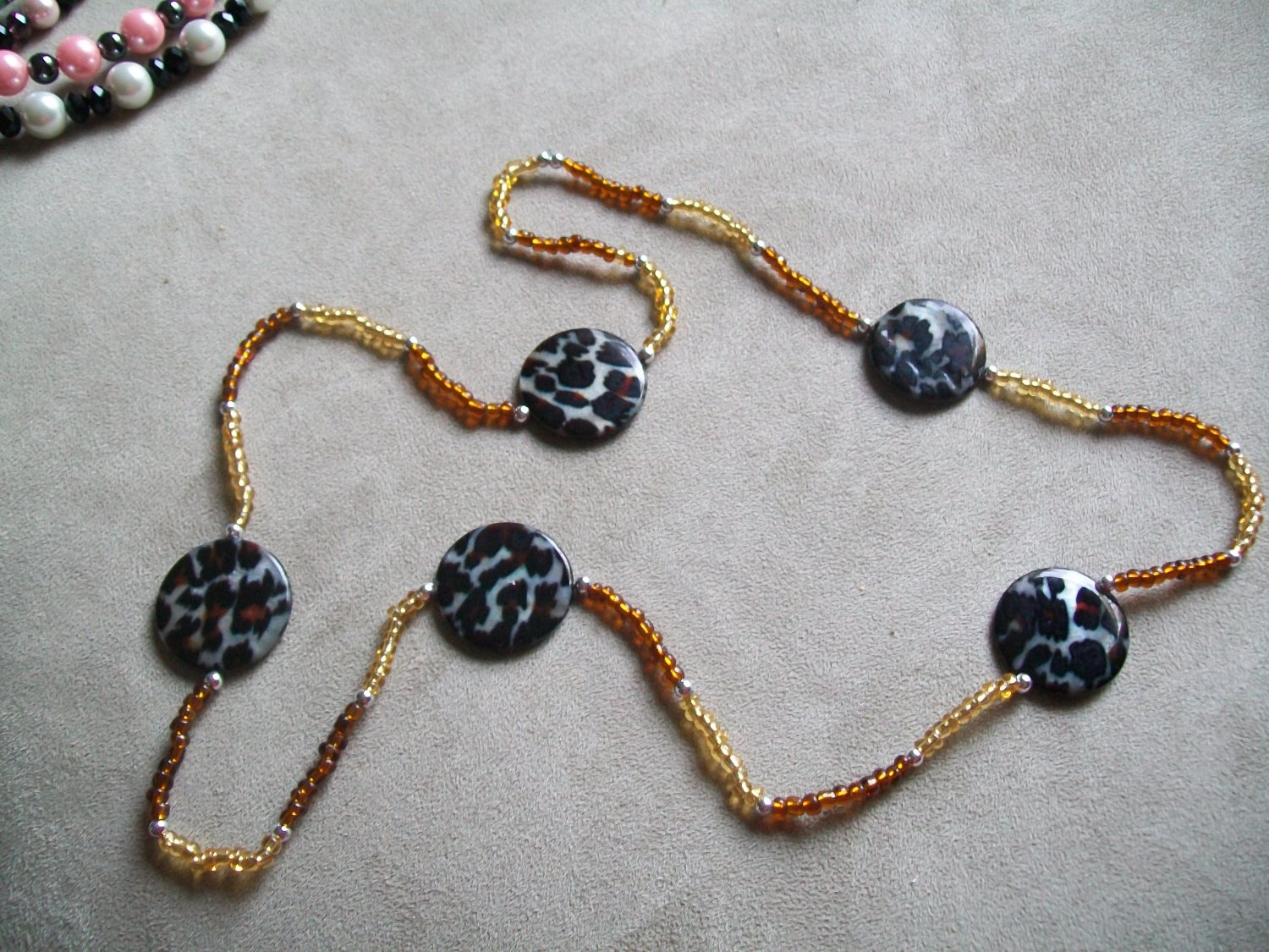 Sweater Necklace-Bronze and Gold