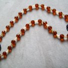 Sweater Necklace-Gold and Amber