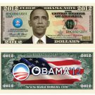 (10) BARACK OBAMA 2012 COMMEMORATIVE NOVELTY DOLLAR BILL