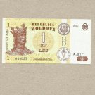 MOLDOVA MOLDOVAN UNCIRCULATED ONE LEU BANKNOTE 2010