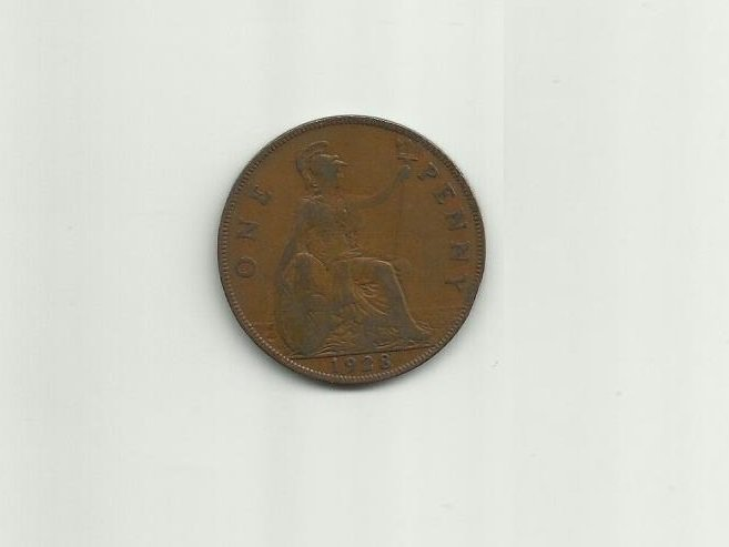 GREAT BRITAIN KING GEORGE V 1928 ONE PENNY COIN