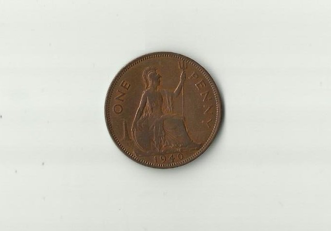 GREAT BRITAIN KING GEORGE VI 1940 ONE PENNY COIN