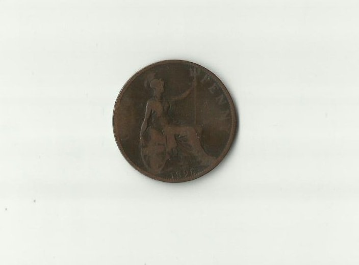 GREAT BRITAIN QUEEN VICTORIA OLD HEAD 1898 ONE PENNY COIN