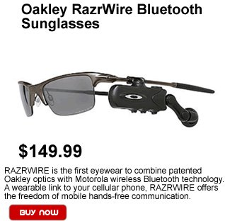 Oakley Razrwire Bluetooth Sunglasses