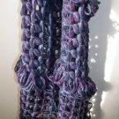 handmade dark purple and blue scarf 100% cotton