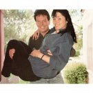 Lucy Lawless/Xena & husband Rob Tappert  litho photo