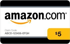 Brand New $5 Amazon Gift Card