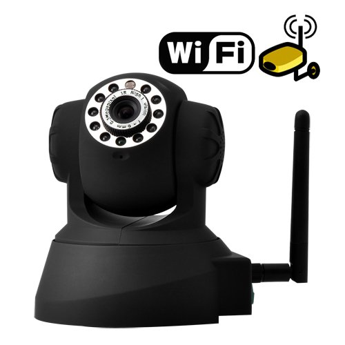 IP Surveillance Camera with Angle Control and Motion Detection (Black)