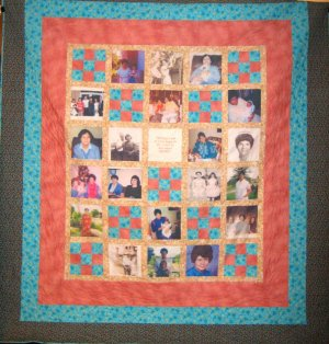 Personalized Photo Wall Quilt