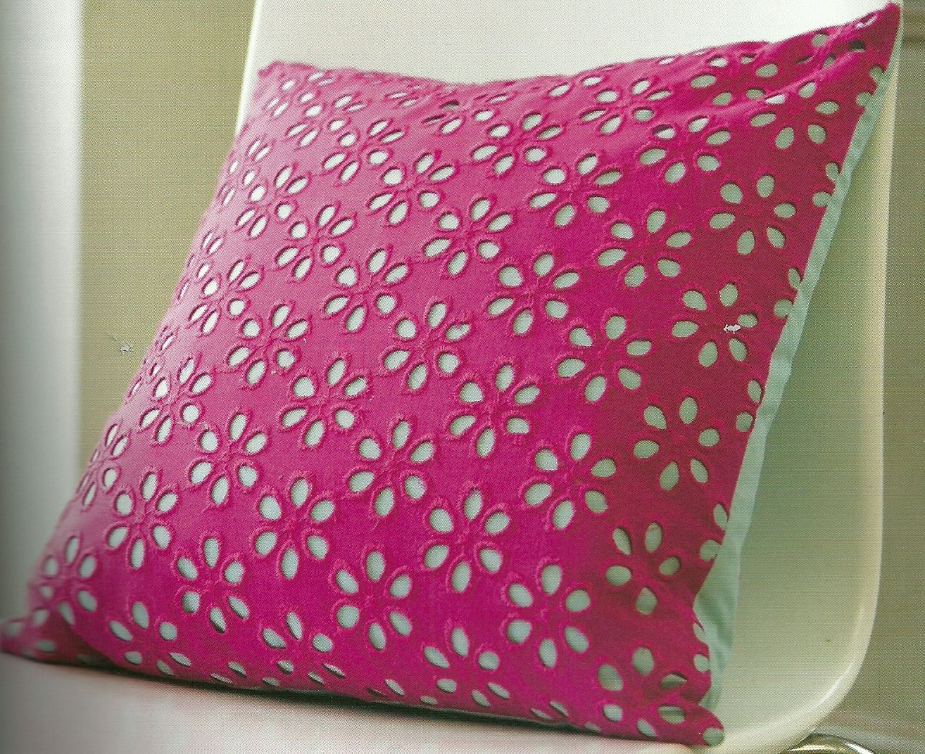 Eyelet Pillow Cover