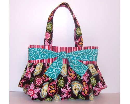 Flowers and Bows Handmade Handbag