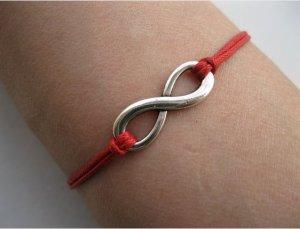Red Ropes Steampunk Bracelet antique silver karma bracelet,Infinity Wish Bracelet 606S