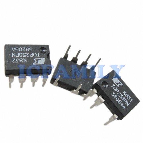10pcs PI TOP258PN TOP258 DIP-8C TOPSwitch-HX Enhanced EcoSmart Integrated Off-Line Switcher