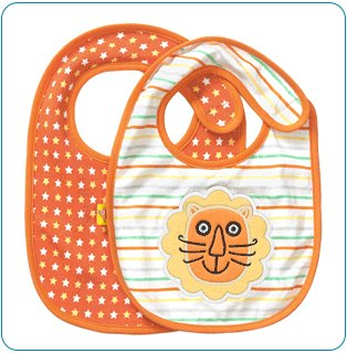 Tiny Tillia Rorsie Lion 2-Pack Bib Set