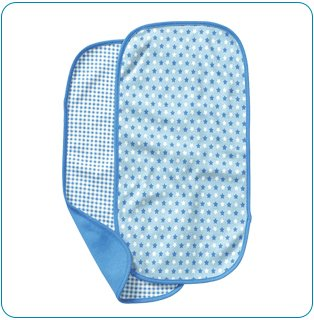 Tiny Tillia Blue 2-Pack Burp Cloth Set