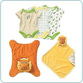 Tiny Tillia Orange Playtime Bundle (3, 6, 9 Months) - Personalizable