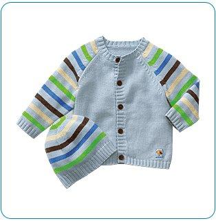 Tiny Tillia Blue Sweater + Hat Set (3-6 months)