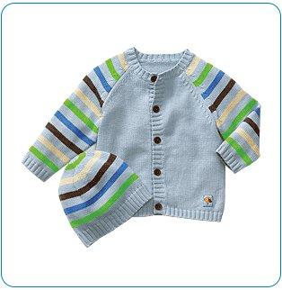 Tiny Tillia Blue Sweater + Hat Set (12-18 months)