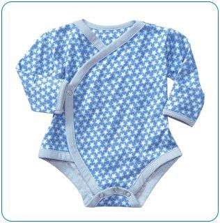Tiny Tillia Blue Nail Protector Bodysuit (3-6 months)