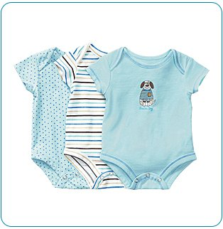 Tiny Tillia 3-Pack Blue Single-Size Bodysuit (0-3 months)