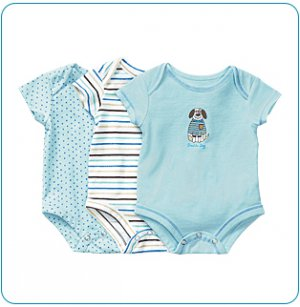 Tiny Tillia 3-Pack Blue Single-Size Bodysuit (9-12 months)