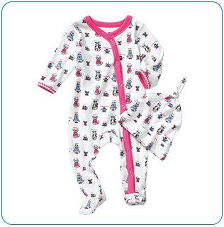 Tiny Tillia Pink Footed Coverall + Hat (0-3 months)