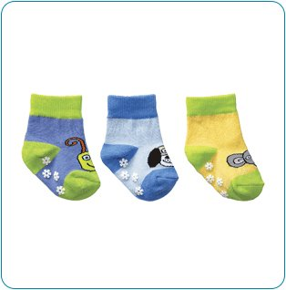 Tiny Tillia Blue Novelty Sock Set (0-12 months)