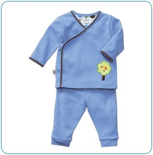 Tiny Tillia Blue Playsuit Kimono Top + Pant (9-12 months)