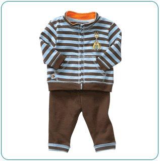 Tiny Tillia Playsuit Zipper Top + Pant (3-6 months)